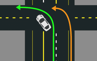 Proper left turn