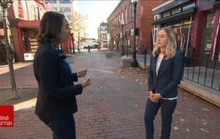 Renée Roy en entrevue avec le téléjournal de Radio-Canada